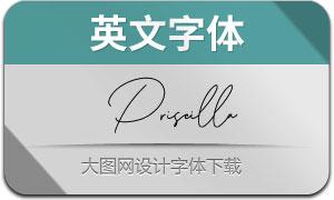 PriscillaSignature(英文字体)