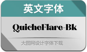 QuicheFlare-Black(英文字体)