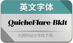 QuicheFlare-BlackItalic(英文字体)