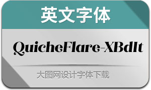 QuicheFlare-ExtraBoldIt(英文字体)