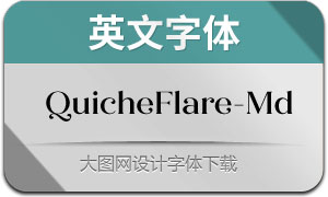QuicheFlare-Medium(英文字体)