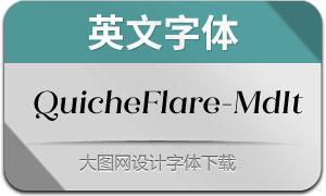 QuicheFlare-MediumIt(英文字体)