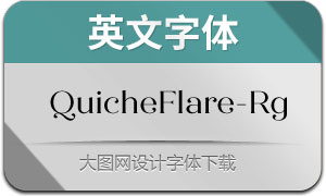 QuicheFlare-Regular(英文字体)