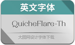 QuicheFlare-Thin(英文字体)