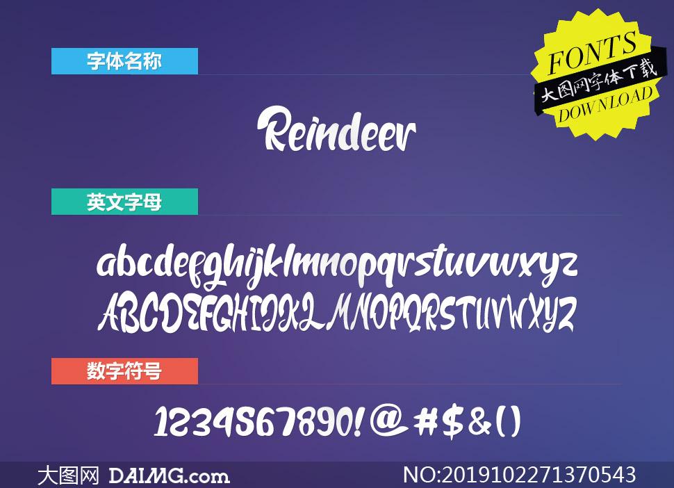 Reindeer(英文字体)