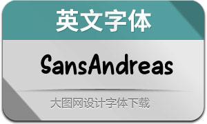 SansAndreas系列四款英文字体