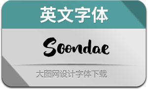 Soondae系列四款英文字体