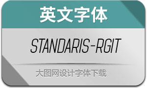 Standaris-RegularItalic(英文字体)