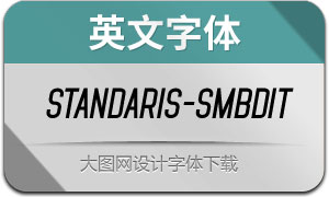 Standaris-SemiboldItalic(英文字体)