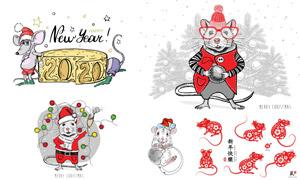可爱卡通的小老鼠主题矢量素材集V14