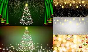 星光光斑点缀圣诞节日主题矢量素材