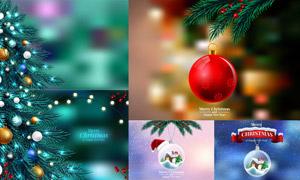 圣诞节水晶挂球等创意设计矢量素材
