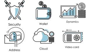 云计算与商务金融主题创意标志素材