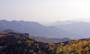 秋季壮观的万里长城美景摄影图片