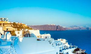 希腊圣托里尼伊亚美景摄影图片