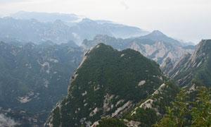 壯觀的華山山頂美麗風光攝影圖片