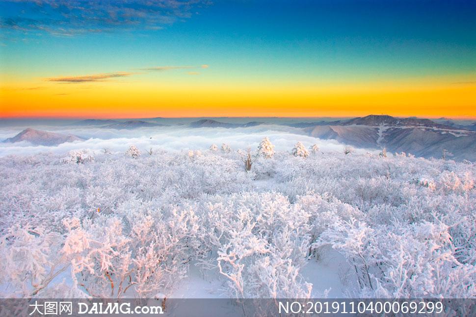 陕西宝鸡太白山雪后美景摄影图片
