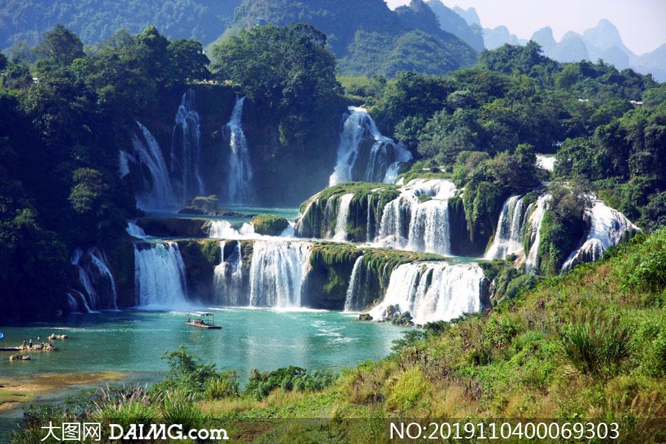 广西德天瀑布美景高清摄影图片