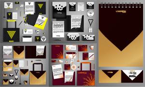 桌旗光盤手提袋等視覺元素矢量素材