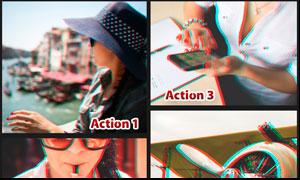 中文版人像3D电影艺术效果PS动作