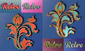 20款复古风格3D艺术字设计PS样式
