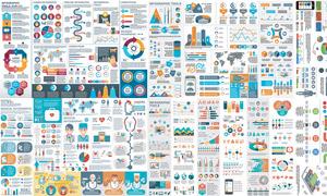 医疗卫生与数据分析图创意矢量素材