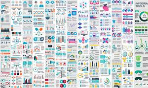 多彩信息图表设计元素主题矢量素材