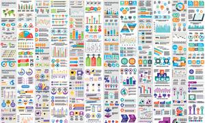 用途广泛的多彩信息图元素矢量素材