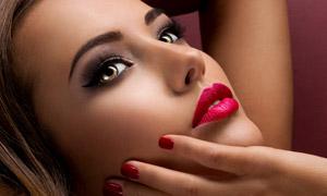 细腻皮肤美妆模特人物写真摄影图片