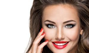 红唇美甲模特人物写真摄影高清图片