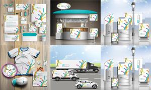 線條圖案創意企業視覺元素矢量素材
