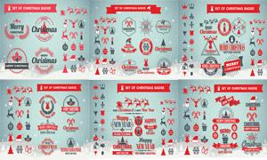 圣诞节图标与徽章设计元素矢量素材