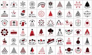 雪人圣诞帽等圣诞主题设计矢量素材