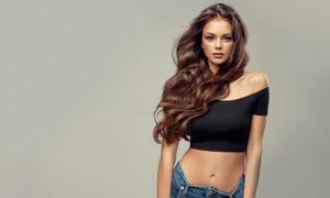 披肩卷发模特美女写真摄影高清图片