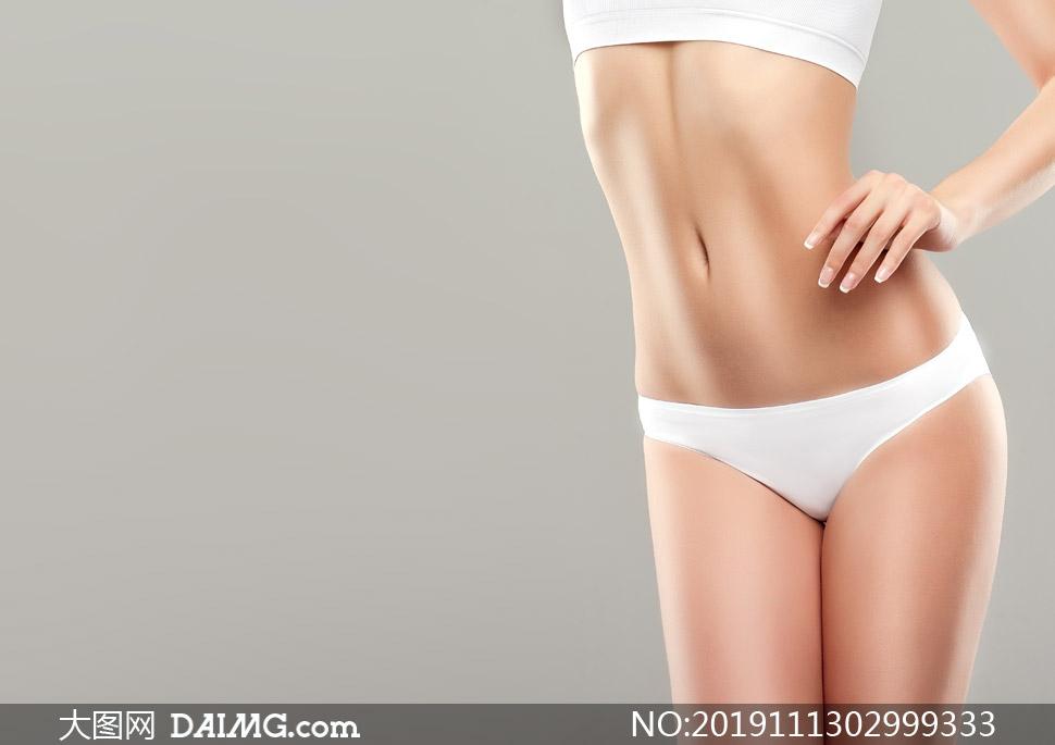 纤瘦减脂美女人物特写摄影高清图片