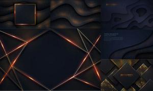 黑暗场景光效装饰背景设计矢量素材