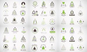 多种表现形式的圣诞树创意矢量素材