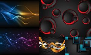 几何图形与未来感背景创意矢量素材