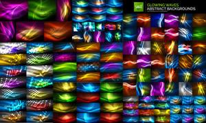 绚丽缤纷光效元素背景矢量素材集V02