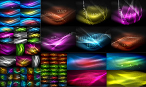 绚丽缤纷光效元素背景矢量素材集V03
