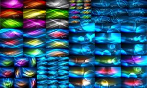 绚丽缤纷光效元素背景矢量素材集V04