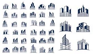 高楼大厦建筑元素标志设计矢量素材