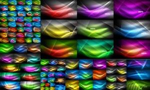 绚丽缤纷光效元素背景矢量素材集V05