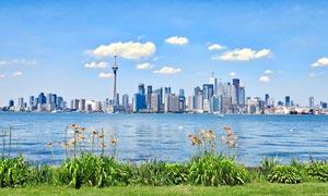 加拿大海边城市建筑摄影图片