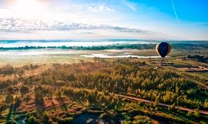 早晨田园风光航帕图高清摄影图片