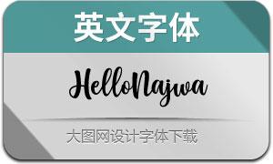 HelloNajwa(英文字体)
