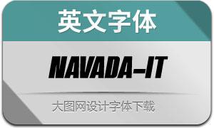 Navada-Italic(英文字体)