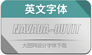 Navada-OutlineItalic(英文字体)