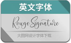 RougeSignature(英文字体)