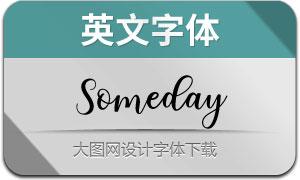 Someday(英文字体)